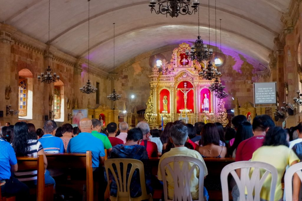 """ALT=""""what to see inside the miagao church in iloilo"""""""