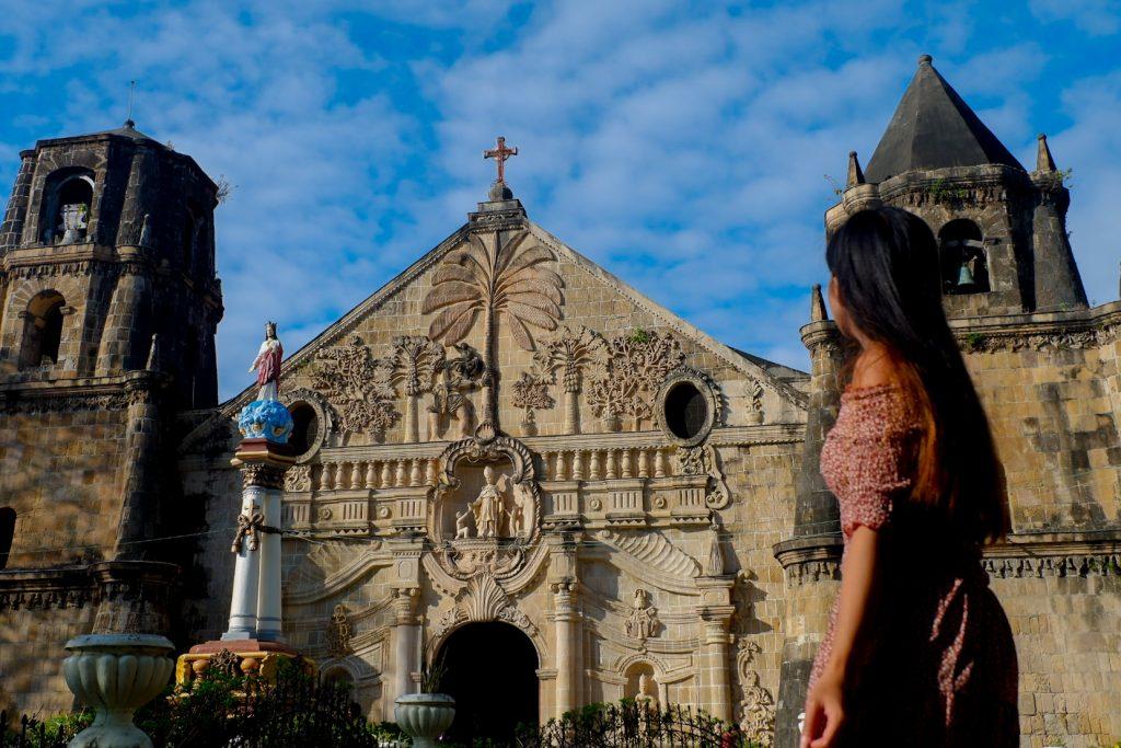 """ALT=""""the facade view of miagao church in iloilo"""""""