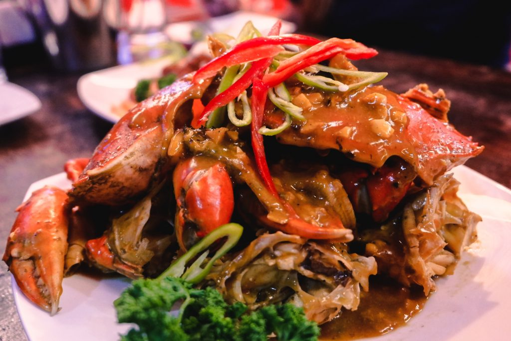 "ALT=""southside grill and the crab with its singaporean sauce"""