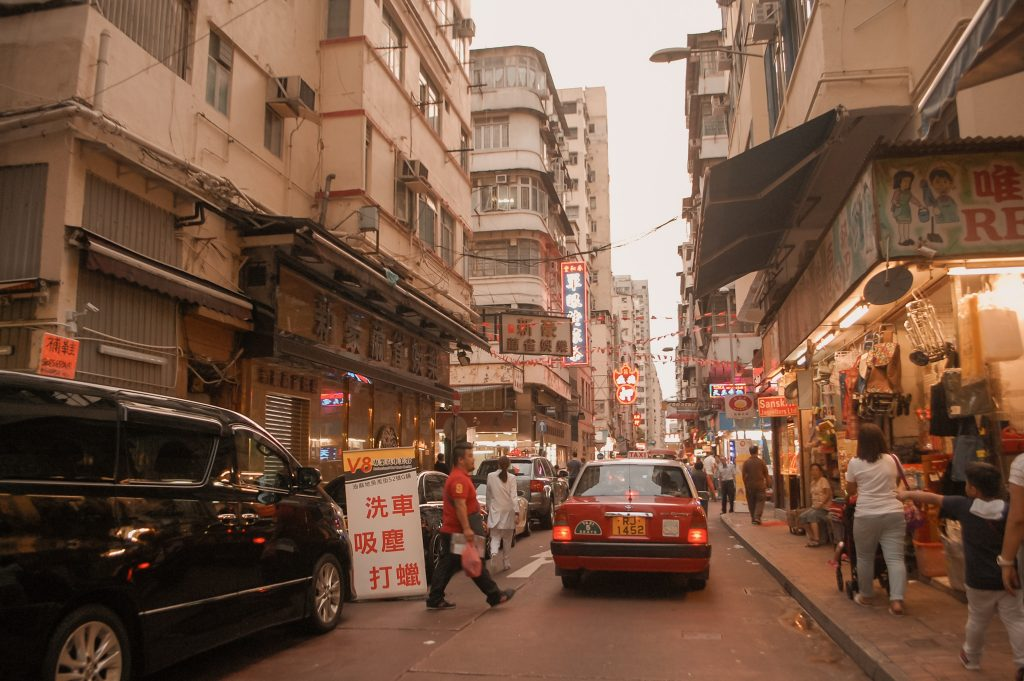 """ALT=""""the busy street of tsim tsa tsui hongkong"""""""