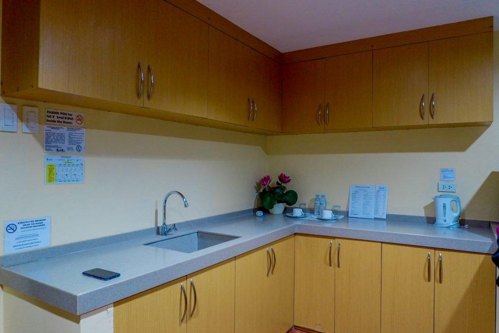 """ALT=""""kitchenette area at the palmbeach resort in cebu"""""""